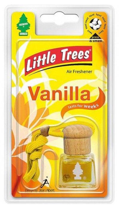 Ароматизатор подвесной Little Trees Bottle. ВанильC01Жидкостный подвесной ароматизатор нейтрализует неприятные запахи, освежая воздух в помещении или в салоне автомобиля. Может использоваться как в автомобиле, так в доме и офисе. Освежитель воздуха имеет оригинальный дизайн. Обладает приятным ароматом, имеет ниточку для подвешивания.