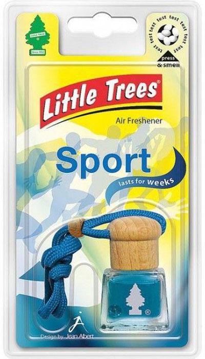 Ароматизатор подвесной Little Trees Bottle. СпортC02Жидкостный подвесной ароматизатор нейтрализует неприятные запахи, освежая воздух в помещении или в салоне автомобиля. Может использоваться как в автомобиле, так в доме и офисе. Освежитель воздуха имеет оригинальный дизайн. Обладает приятным ароматом, имеет ниточку для подвешивания.