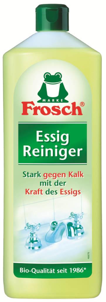 Чистящее средство против известковых отложений Frosch, 1 л114291Чистящее средство Frosch предназначено для удаления известковых отложений. Оно содержит натуральный уксус, который эффективно борется с известью, остатками мыла, устраняет жировые загрязнения и неприятные запахи. Действует даже при застарелых загрязнениях и при постоянном применении препятствует появлению новых.Состав: менее 5% неионные ПАВ, уксус, лимонная кислота, незначительное количество косметических красителей.Товар сертифицирован.