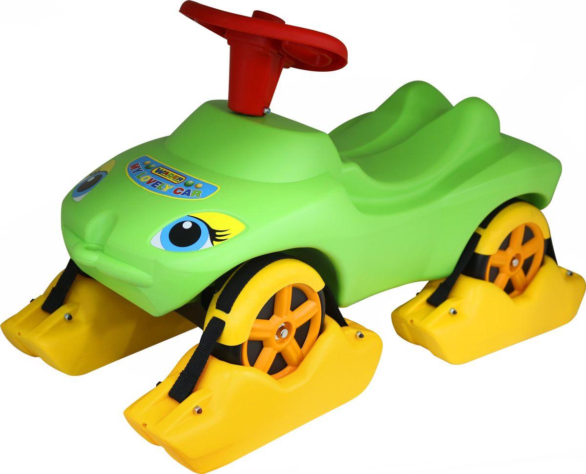 Полесье Каталка Мой любимый автомобиль цвет зеленый 44648 - Каталки, понициклы
