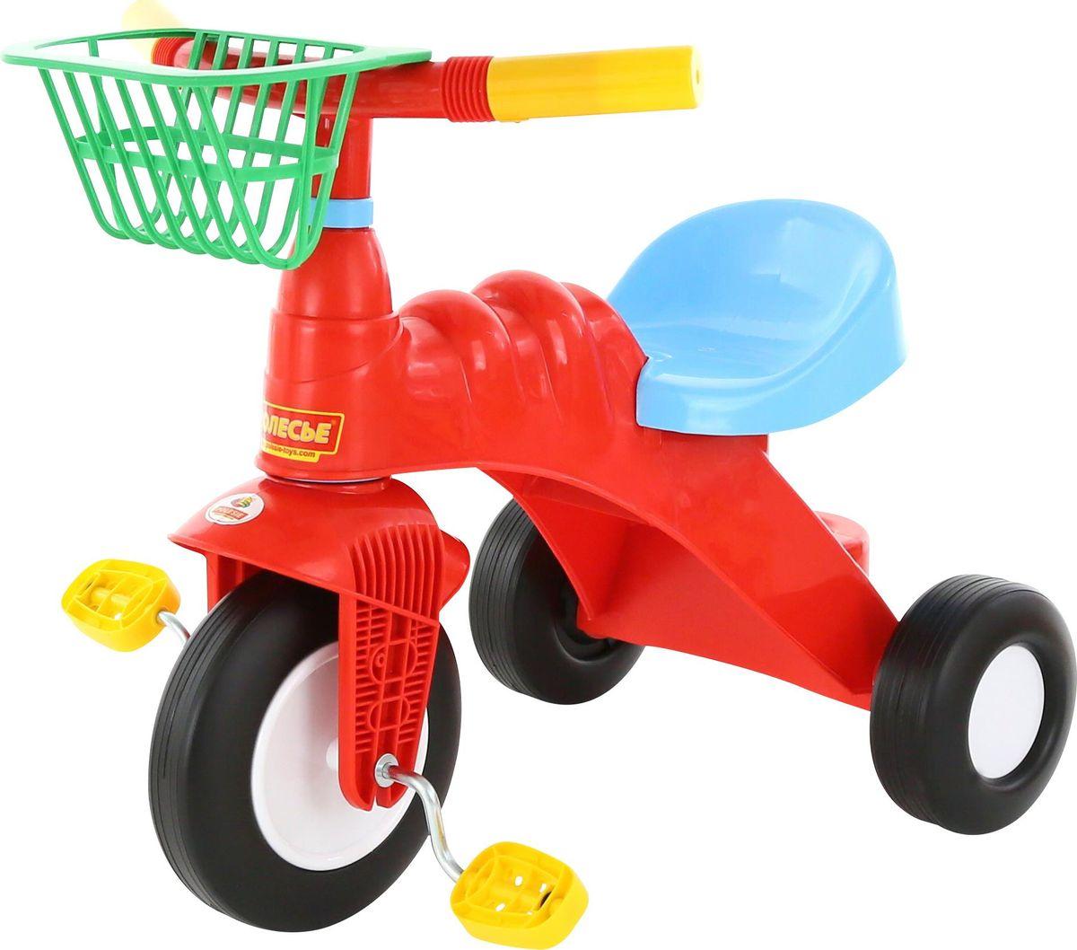Полесье Велосипед трехколесный Малыш с корзинкой46192Полесье Велосипед трехколесный Малыш с корзинкой