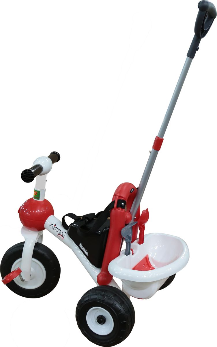 Полесье Велосипед трехколесный Базик с ручкой и ремешком46215Полесье Велосипед трехколесный Базик с ручкой и ремешком + Набор цвет 2 элемента