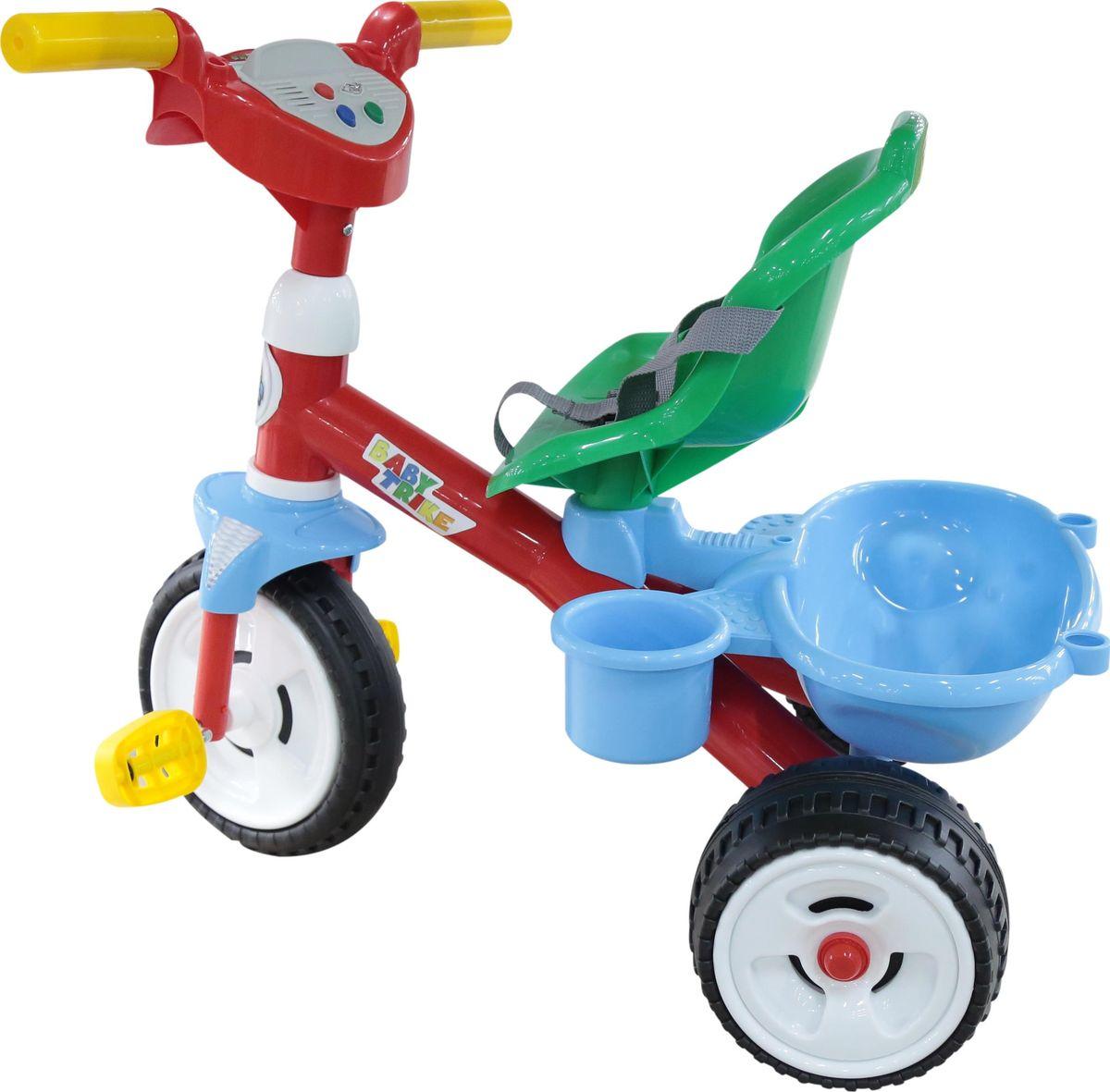 Полесье Велосипед трехколесный Беби Трайк с ручкой и ремешком 4673446734Полесье Велосипед трехколесный Беби Трайк и ремешком