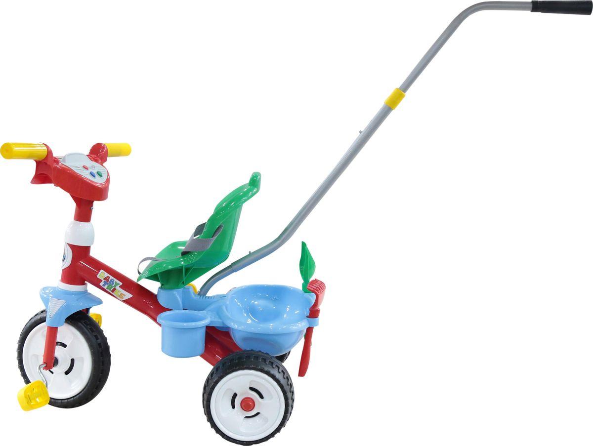 Полесье Велосипед трехколесный Беби Трайк 4674146741Полесье Велосипед трехколесный Беби Трайк с ручкой, звуковым сигналом и ремешком + Набор цвет 2 элемента