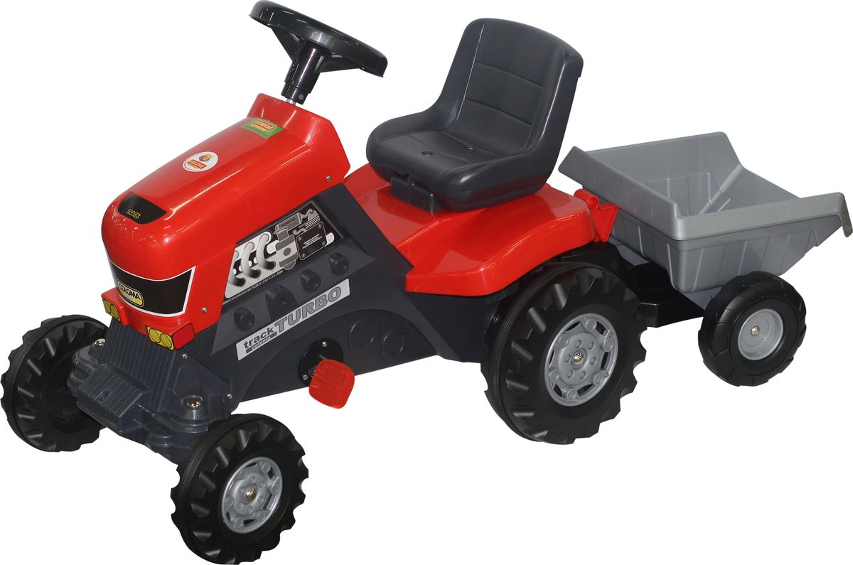 Полесье Каталка Трактор Turbo с полуприцепом -  Каталки, понициклы