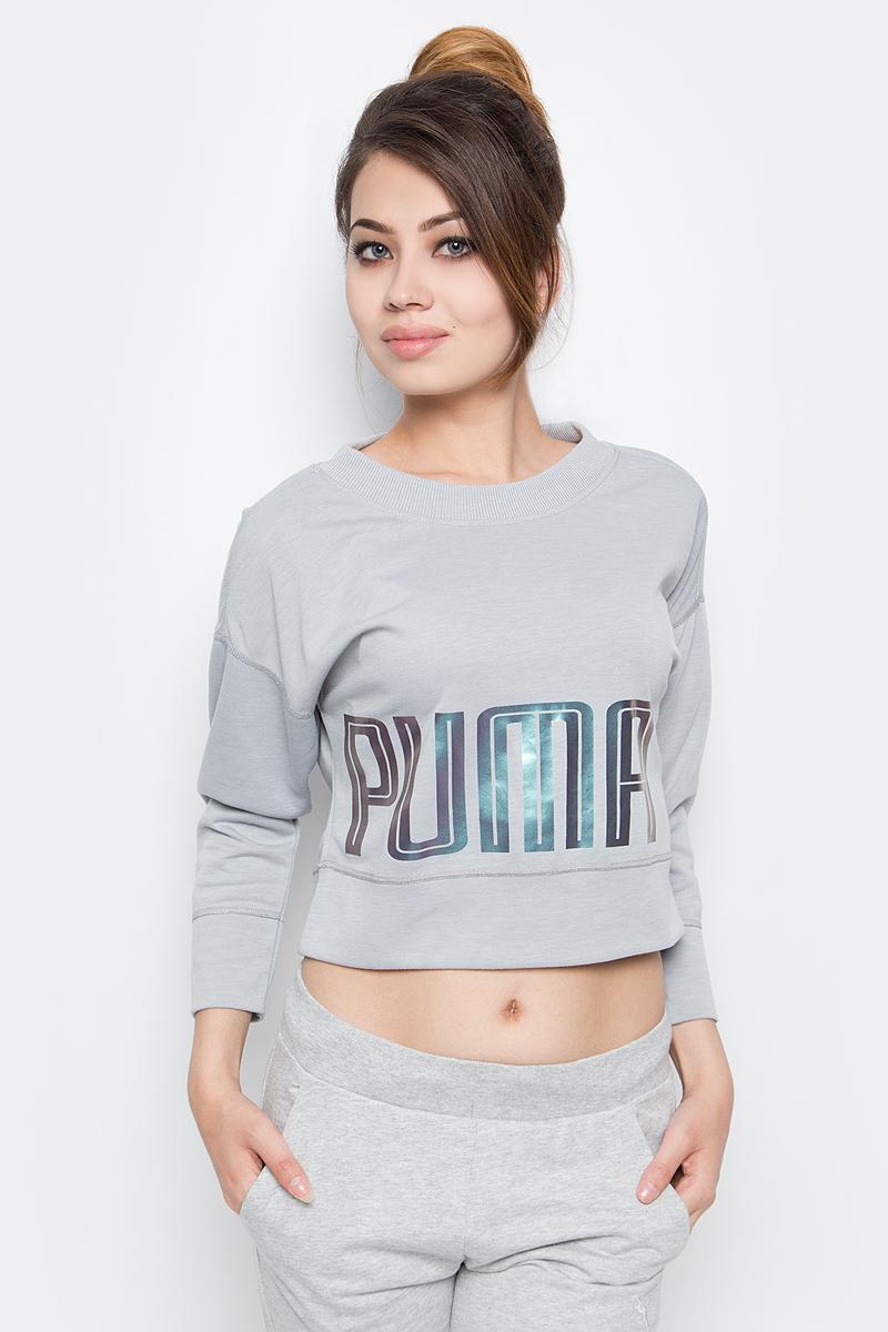 Купить Свитшот женский Puma Yogini Pullover, цвет: серый. 51512502. Размер M (44/46)