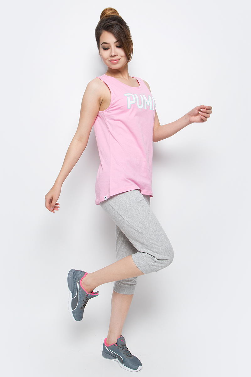 Капри женские Puma ESS Capri Sweat Pants W, цвет: серый. 83842404. Размер XL (48/50) капри puma puma pu053egqno95