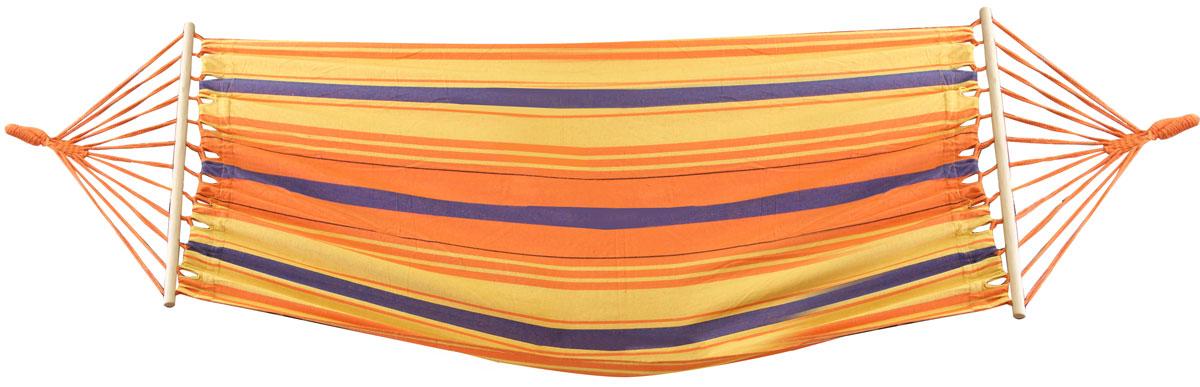 Гамак Frut, цвет: коричневый, красный, 200 х 100 см439002Размер: 200 х 100 см.Материал: хлопок.Идеален для загородного отдыха.Имеет деревянные планки для удобства подвешивания. Легко крепится к деревьям или специальной подставке. Выдерживает вес до 130 кг.