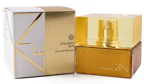 Shiseido Парфюмированная вода Zen Woman, 100 мл11780Цветочные, древесные, мускусные. Дубовый мох, ирис, роза, фиалка, бамбук, мускус, пачули, бергамот.