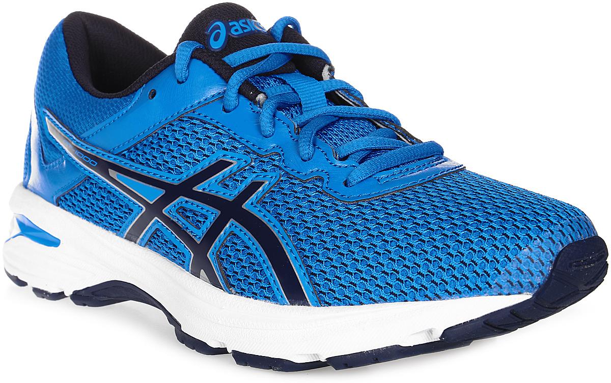 Кроссовки для мальчика Asics Gt-1000 6 Gs, цвет: синий. C740N-4358. Размер 3H (34)C740N-4358Легкие кроссовки для мальчика Asics Gt-1000 6 Gs покорят вашего ребенка своим дизайном и функциональностью! Верх кроссовок выполнен из специальной дышащей сетки, которая обеспечивает оптимальный микроклимат внутри обуви. Промежуточная подошва из EVA и вставки Asics Gel в пяточной области обеспечивают превосходную поддержку и предохраняют ноги ребенка от усталости. В модели предусмотрена съемная стелька для простоты ухода и дополнительной амортизации. Светоотражающие элементы обеспечат безопасность в темное время суток.