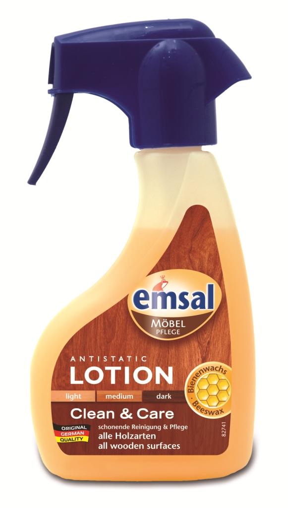 Лосьон для деревянных поверхностей Emsal, с распылителем, 250 мл707454Лосьон Emsal быстро убирает пыль, пятна жира и воды со всех видов деревянных поверхностей. Благодаря натуральному пчелиному воску бережно ухаживает за поверхностью. Не требует дополнительной полировки, создает антистатический эффект против пыли. Не содержит силикона. Характеристики:Объем: 250 мл. Состав: Производитель: Германия.Как выбрать качественную бытовую химию, безопасную для природы и людей. Статья OZON Гид