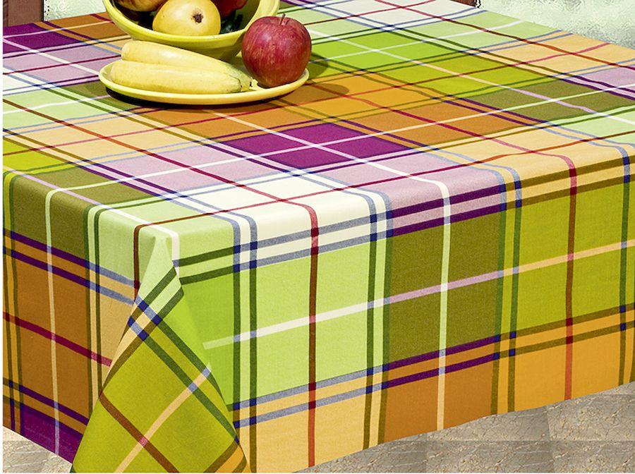 Скатерть Protec Textil Alba. Кантри, прямоугольная, цвет: зеленый, 160 х 250 см5222Эксклюзивная и стильная скатерть Protec Textil состоит на 80% из хлопка и на 20% из полиэстера. Специальная обработка придает ткани термостойкость и влагоустойчивость. Технология производства изделий отвечает новейшим европейским стандартам. Полотна отличаются высочайшими качественными характеристиками: высокими показателями износостойкости, цветостойкости и цветопередачи, прочности ткани на разрыв, низкими показателями истираемости полотна при многократном использовании изделия. Скатерть обладает высокой плотностью, не скользит и не перемещается на поверхности стола, легко протирается влажной тканью, возможна деликатная стирка при температуре не выше 30 градусов. Коллекция скатертей Alba - это тренд современной хозяйки, которая предпочитает стиль и качество в сочетании с практичностью.