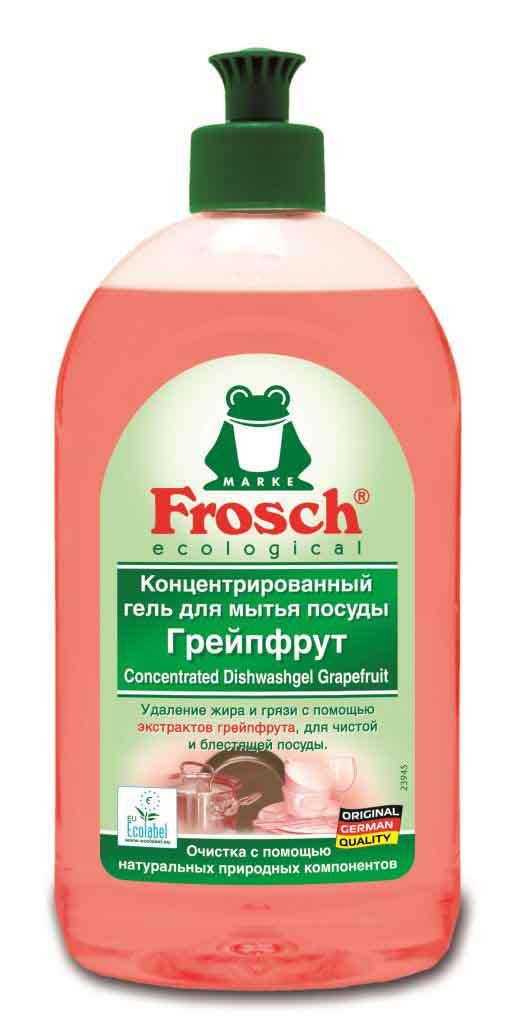Гель для мытья посуды Frosch, концентрированный, с ароматом грейпфрута, 0,5 л712449Концентрированное средство длямытья посуды Frosch благодаря биологическим экстрактам грейпфрута быстро удаляет жиригрязь, отмывая посуду доблеска. Оставляет после себя приятный аромат грейпфрута. Средство несодержит растворителей, фосфатов иформальдегида.Особенности природного качества:Формула Зеленой Силы с натуральными ингредиентами, подчеркивающими качество очистки и ухода.С ПАВ возобновляемого растительного происхождения, с высоким и быстрым биологическим расщеплением.Безопасные для кожи формулы, протестированные дерматологами. Минимальное использование мягких консервантов и тщательно отобранных ароматизаторов или полный отказ от них.Отсутствие опасных химикатов, таких как фосфаты, бораты, формальдегиды, галогенорганические компоненты, ПВХ.Сниженная нагрузка на окружающую среду благодаря сокращению использования упаковочных материалов. Прогрессивное использование переработанных и перерабатываемых материалов.Не тестируется на животных.Экологически безопасное и энергосберегающее производство на производственных участках с системой экологического менеджмента, получившего сертификат.Собственная станция для очистки сточных вод.Более 25 лет опыта в производстве экологически безопасных средств для чистки и ухода.Состав: 5-15<% анионные пав, нПАВ, <5% амфолитные ПАВ, консервант (молочная кислота), ароматизирующие добавки.