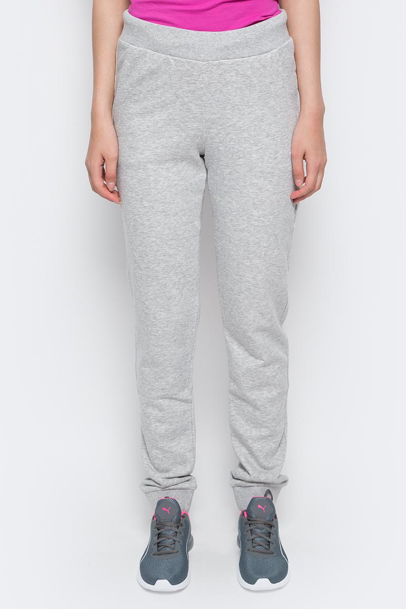 Купить Брюки спортивные женские Puma ESS Sweat Pant TR W, цвет: серый. 83842804. Размер XS (40/42)