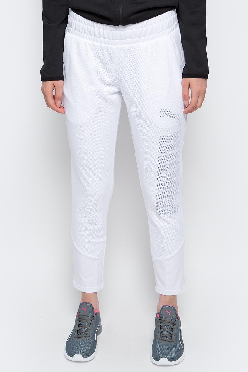 Брюки спортивные женские Puma Pwr Swagger Pants W, цвет: белый. 59078802. Размер M (44/46)