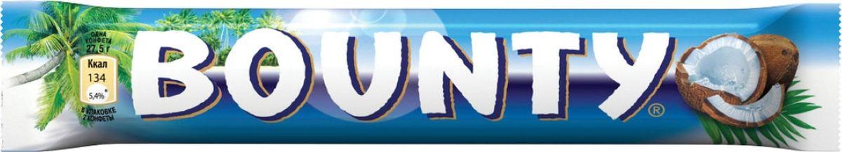 Bounty шоколадный батончик, 55 г