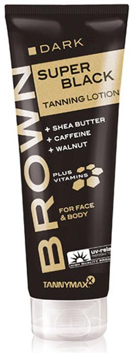 Tannymaxx Крем-ускоритель для загара Brown Super Black Tanning, с натуральным бронзатором тройного действия и Slimming-эффектом, 125 мл1265Натуральный бронзатор тройного действия (карамель, грецкий орех, эритрулоза) придаст коже красивый оттенок, а также ускорит естественный загар кожи на солнце или в солярии. Крема Brown Super Black содержат усиленную формулу, которая обеспечивает выдающийся уход за кожей и ускоряет проявление загара. Такие ингредиенты, как масло ши и витамины, дарят коже нежный уход и приятные ощущения. Кофеин, с его дегидратирующими свойствами, укрепляет соединительную ткань, оказывая slimming-эффект и давая коже дополнительный заряд энергии. В дополнение к этому, ингредиенты гарантируют надлежащую консистенцию крема на коже. Подходят для лица и тела.