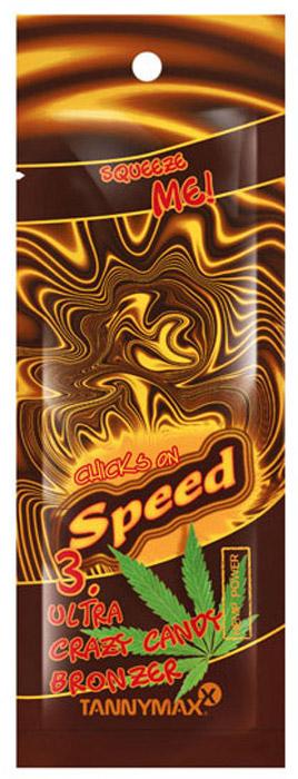 Tannymaxx Турбо-бронзатор 5-ти кратного воздействия Chicks On Speed Ultra Crazy Candy Bronzer, с маслом конопли, 15 мл1430Эксклюзивный комплекс бронзаторов 5-ти кратного воздействия (орех колы, хна, ДГА, эритрулоза, карамель) обеспечит безупречный и максимально долгий загар. Крема линии Chicks on Speed содержат комплекс темных ускорителей загара из тирозина и масла конопли, который поможет добиться глубокого естественного загара на солнце или в солярии. Масло конопли — натуральное масло, богатое энзимами, смягчающее и увлажняющее кожу для лучшего поглощения UV-лучей, что увеличивает интенсивность их проникновения на 30–50 % и дарит коже ультра-темный оттенок загара, а также обеспечивает длительное сохранение загара. Масло конопли легко впитывается кожей и обеспечивает глубокое проникновение активных ингредиентов. Алоэ вера, масло ши и фруктовые экстракты интенсивно увлажняют кожу, помогая добиться здорового оттенка загара, а также укрепляют липидный барьер кожи. Масло авокадо придает коже свежий отдохнувший вид, насыщает ее питательными веществами, оберегает от воздействия агрессивной внешней среды.
