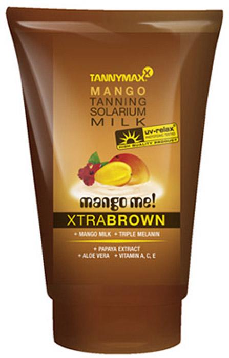 Tannymaxx Молочко-ускоритель для коричневого загара Classic Brown Mango Milk, с натуральным бронзатором двойного действия, 50 мл tannymaxx крем после загара brown tropical beyouty tan extender с бронзатором тройного действия 125 мл