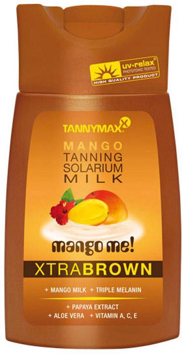 Tannymaxx Молочко-ускоритель для коричневого загара Classic Brown Mango Milk, с натуральным бронзатором двойного действия, 200 мл1845Легкое и нежное молочко для загара, которое придает коже красивый оттенок, а также ускоряет естественный загар кожи в солярии или под солнцем. Масло ши и Алоэ вера тонизируют и увлажняют кожу, защищают ее от свободных радикалов, увеличивают синтез коллагена. Витамины А, С и Е защищают кожу от потери влаги и от неблагоприятных факторов окружающей среды. Экстракт манго, входящий в состав, богат витаминами и минералами, благодаря чему питает кожу, оказывает регенерирующее действие.