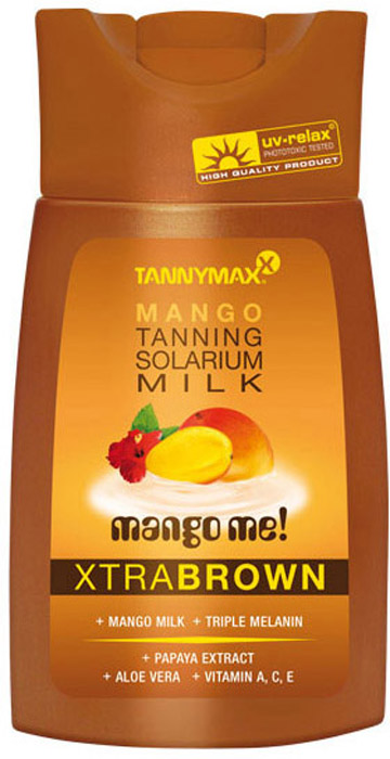 Tannymaxx Молочко-ускоритель для коричневого загара Classic Brown Mango Milk, с натуральным бронзатором двойного действия, 200 мл tannymaxx крем после загара brown tropical beyouty tan extender с бронзатором тройного действия 125 мл