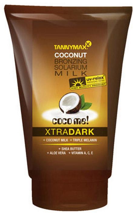 Tannymaxx Молочко-ускоритель для загара Classic Dark Coconut Milk, с усиленным бронзатором тройного действия, 50 мл1863Легкое и нежное молочко для загара, которое придает коже красивый оттенок, а также ускоряет естественный загар кожи в солярии или под солнцем. Масло ши и Алоэ вера тонизируют и увлажняют кожу, защищают ее от свободных радикалов, увеличивают синтез коллагена. Витамины А, С и Е защищают кожу от потери влаги и от неблагоприятных факторов окружающей среды. Экстракт кокоса, входящий в состав, содержит витамин С, который улучшает обменные процессы в коже, укрепляет и придает ей здоровый вид.