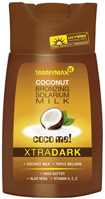 Tannymaxx Молочко-ускоритель для загара Classic Dark Coconut Milk, с усиленным бронзатором тройного действия, 200 мл - Аксессуары и средства для солярия