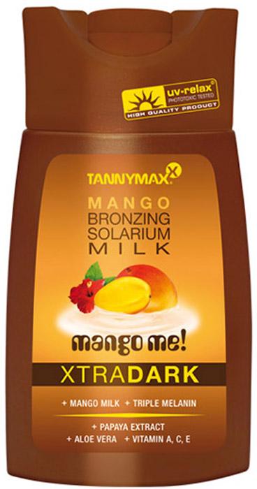 Tannymaxx Молочко-ускоритель для загара Classic Dark Mango Milk, с усиленным бронзатором тройного действия, 200 мл1875Легкое и нежное молочко для загара, которое придает коже красивый оттенок, а также ускоряет естественный загар кожи в солярии или под солнцем. Масло ши и Алоэ вера тонизируют и увлажняют кожу, защищают ее от свободных радикалов, увеличивают синтез коллагена. Витамины А, С и Е защищают кожу от потери влаги и от неблагоприятных факторов окружающей среды. Экстракт манго, входящий в состав, богат витаминами и минералами, благодаря чему питает кожу, оказывает регенерирующее действие.
