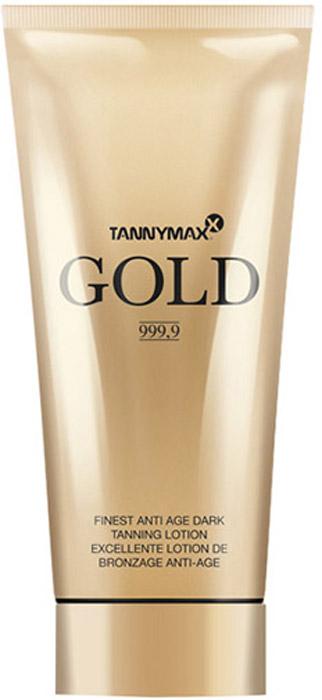 Tannymaxx Крем-ускоритель для загара Gold 999,9 Finest Anti Age Tanning Lotion, с натуральным бронзатором двойного действия с инновационным омолаживающим компонентом Hysilk Hyaluron, 200 мл - Аксессуары и средства для солярия