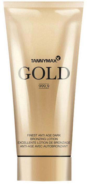 Tannymaxx Крем-ускоритель для загара Gold 999,9 Finest Anti Age Bronzing Lotion, с усиленным бронзатором тройного действия с омолаживающим компонентом Hysilk Hyaluron, 200 мл - Аксессуары и средства для солярия