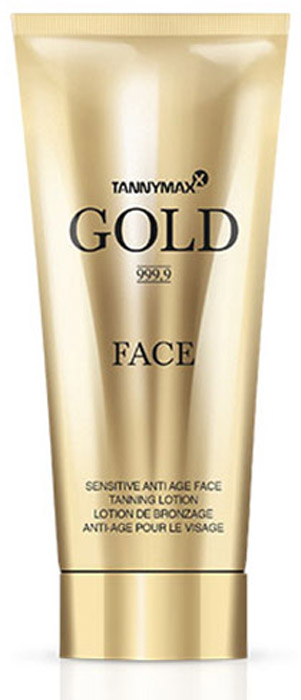 Tannymaxx Крем-ускоритель для загара лица, шеи и зоны декольте Gold 999,9 Ultra Sensitive Face Care, с Anti-age эффектом, 75 мл - Аксессуары и средства для солярия