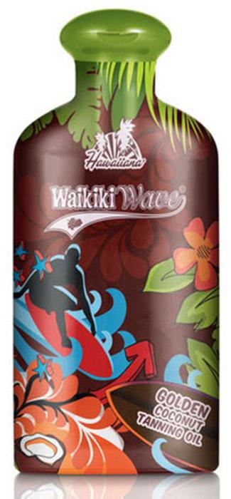 Hawaiiana Масло-ускоритель для загара Waikiki Wave Golden Coconut Dark Tanning Oil, с витаминным комплексом, 200 мл5245Текучее масло легкой текстуры максимально глубоко проникает в кожу, увлажняет ее, делает бархатистой и ультра загорелой. Благодаря входящему в состав экстракту моркови, масло ускоряет проявление загара, бережно ухаживая за кожей и сохраняя ее упругость. Масло авокадо глубоко питает и увлажняет кожу, оказывает восстанавливающее действие, обеспечивая коже здоровый вид ишелковистость. Витамины А и Е защищают кожу от потери влаги и от неблагоприятных факторов окружающей среды.