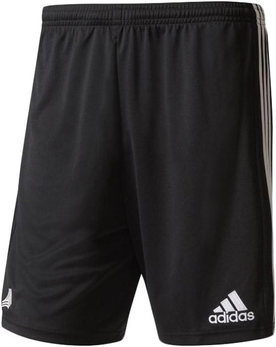 Шорты спортивные мужские Adidas Tanc3s Shorts, цвет: черный, белый. AZ9743. Размер M (48/50)AZ9743Шорты мужские Adidas изготовлены из полиэстера. Модель выполнена с широкой резинкой на поясе. Изделие дополнено вертикальными полосками по бокам.