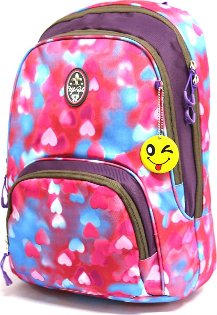 UFO People Рюкзак цвет розовый 76537653Легкий молодежный рюкзак UFO People выполнен из нейлоновой ткани на основе PU. Рюкзак имеет плотную анатомическую спинку.Изделие содержит два основных вместительных отделения, передний кармашек для мелких предметов и внутренний кармашек для документов.Рюкзак оснащен плотными лямками регулируемой длины и текстильной ручкой для переноски в руках.