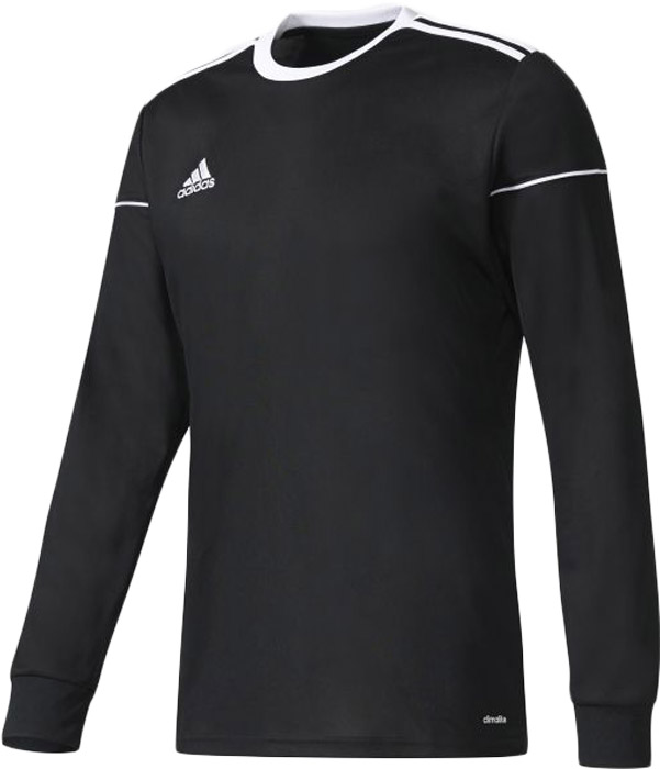 Лонгслив бесшовный мужской Adidas Squad 17 Jsy Ls, цвет: черный. BJ9185. Размер M (48/50)BJ9185Контролируй мяч и управляй игрой. Повышение уровня мастерства требует регулярной практики. В этом лонгсливе ты сможешь тренироваться каждый день. Модель с длинными рукавами и круглым вырезом горловины изготовлена из полиэстера. Отводящая влагу ткань быстро сохнет и сохраняет ощущение свежести. Ткань с технологией climalite быстро и эффективно отводит влагу с поверхности кожи, поддерживая комфортный микроклимат. Лонгслив декорирован контрастной отделкой на плечах. Модель дополнена эластичными манжетами на рукавах.