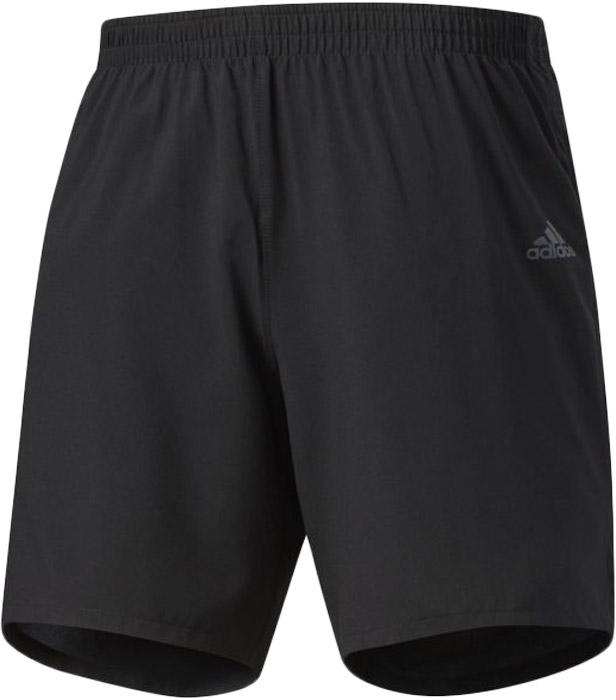 Шорты для бега мужские Adidas Rs Short M, цвет: черный. BJ9339. Размер XXL (60/62)BJ9339Шорты мужские Adidas изготовлены из полиэстера. Эти беговые шорты сохраняют ощущение прохлады и свежести во время ежедневных тренировок. Ткань с технологией climalite быстро и эффективно отводит влагу с поверхности кожи, поддерживая комфортный микроклимат. Непромокаемый карман идеально подходит для ключей, а эластичный пояс на завязках обеспечивает комфортную посадку. Модель дополнена светоотражающими элементами.