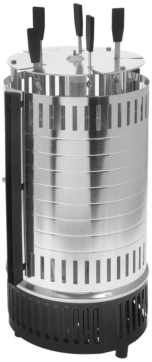 МИГ Маэстро электрошашлычницаМИГ МАЭСТРОЭлектрошашлычница МИГ МАЭСТРО, Мощность 1000 Вт, Рабочее напряжение 220-240 В/50 Гц, Автоматическоевращение шампуров,Электрошашлычница МИГ Маэстро предназначена для приготовления мясных, рыбных, овощных продуктов вдомашних условиях.Электрошашлычница - незаменимый прибор для людей, привыкших жить полной жизнью и наслаждаться каждым еемоментом.Электрошашлычница позволяет не завесить от внешних погодных условий, от отсутствия места готовки илинехватки угля, от субъективных человеческих факторов.Электрошашлычница МИГ Маэстро - ваш верный помощник и персональный шеф-повар!Нагревательный элемент защищен стеклянной трубкойМасса одновременной загрузки - не более 1 кгВремя приготовления шашлыка: 15-20 минут
