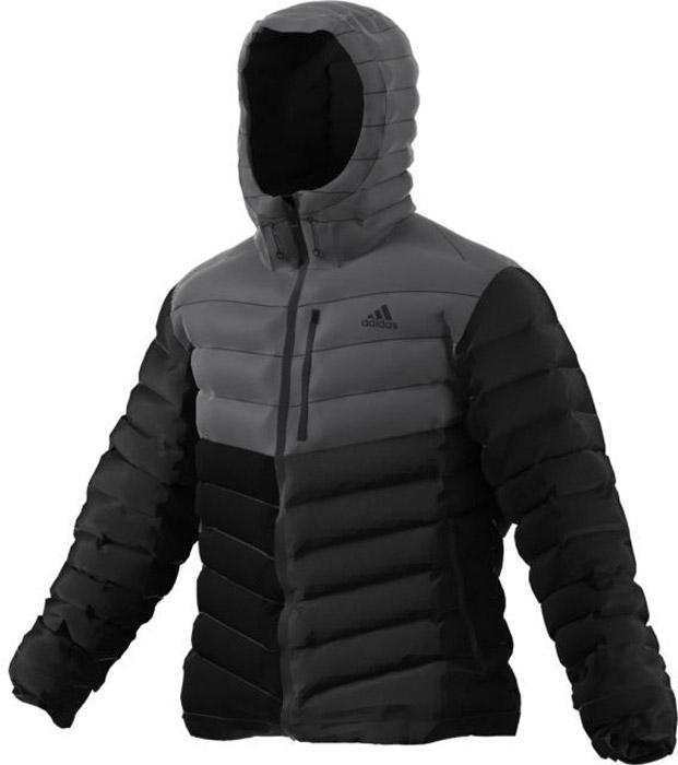 Куртка мужская Adidas Cytins H Jacket, цвет: черный, серый. BQ2034. Размер M (48/50)BQ2034Стильная мужская куртка adidas изготовлена из полиэстера с утеплителем из синтепона. Куртка с капюшоном застегивается на застежку-молнию. По бокам модель дополнена двумя прорезными карманами на молниях, а на груди - одним прорезным кармашком на застежке-молнии. Рукава дополнены внутренней эластичной резинкой.