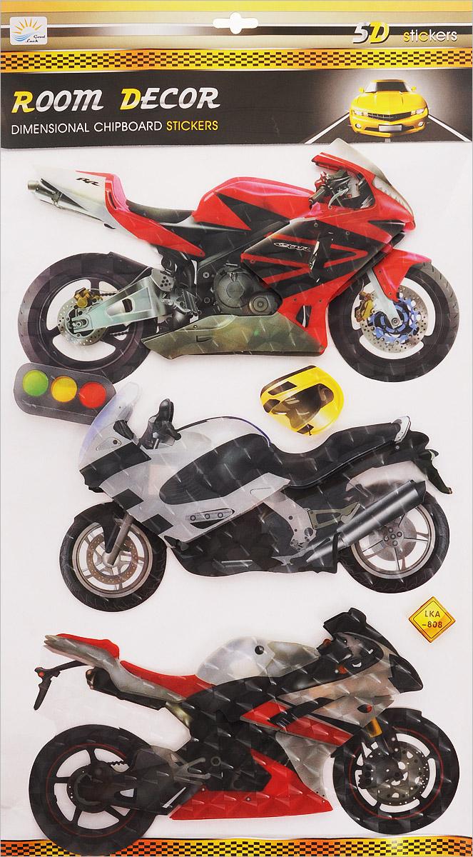 Room Decor Наклейка интерьерная 5D Мотоцикл 4 шт