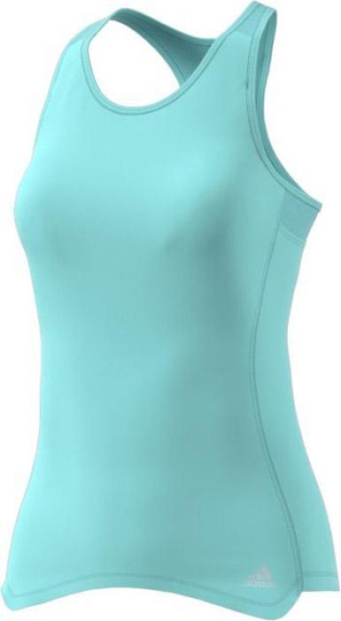 Майка для бега женская Adidas Rs Cup Tnk W, цвет: мятный. BQ3602. Размер M (46/48)BQ3602Удобная женская майка Adidas, выполненная из полиэстера, гарантирует комфорт во время длительных забегов в жаркие дни. Ткань с технологией climalite® отводит излишки влаги от тела, сохраняя комфортное ощущение сухости. Майка-борцовка с круглым вырезом горловины дополнена светоотражающим логотипом бренда.