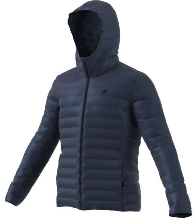 Пуховик мужской Adidas Varilite Ho Jkt, цвет: темно-синий. BQ7785. Размер L (52/54) пуховик мужской adidas helionic ho jkt цвет темно синий bq1998 размер xxl 60 62