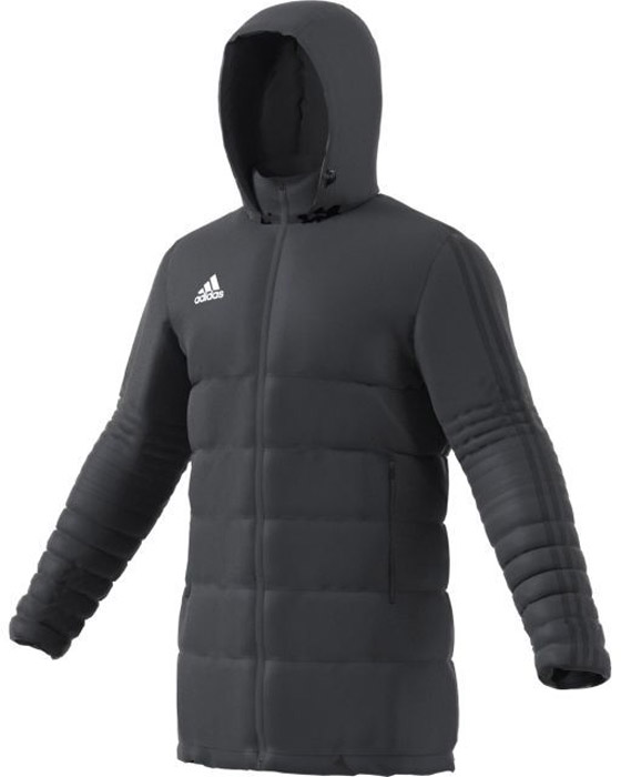 Пуховик мужской Adidas Tiro17 Winter Jkt Long, цвет: темно-серый. BS0053. Размер XL (56/58) пуховик мужской geox цвет темно зеленый m8225bt2449f3179 размер 56