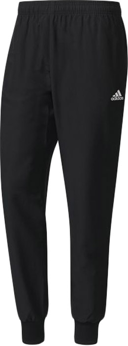Брюки спортивные мужские Adidas Ess Stanford 2, цвет: черный. BS2884. Размер XXXL (64/66)BS2884Мужские спортивные брюки Adidas, выполненные из полиэстера, великолепно подойдут для отдыха и занятий спортом. Быстросохнущая ткань с технологией climalite эффективно отводит влагу с поверхности кожи, поддерживая комфортный микроклимат. Модель дополнена широкими эластичными резинками на поясе и по низу брючин. Объем талии регулируется с внешней стороны при помощи шнурка-кулиски. Спереди имеются два прорезных кармана.