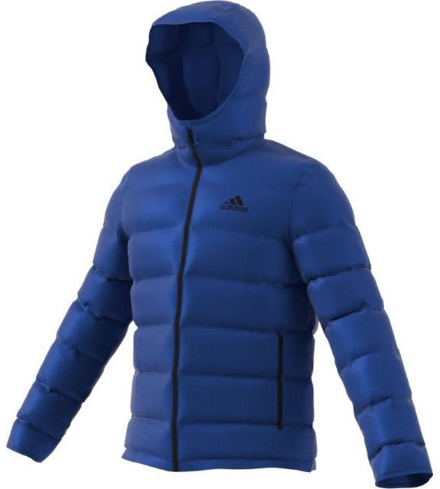 Пуховик мужской Adidas Helionic Ho Jkt, цвет: голубой. BS2984. Размер L (52/54) пуховик мужской adidas helionic ho jkt цвет темно синий bq1998 размер xxl 60 62