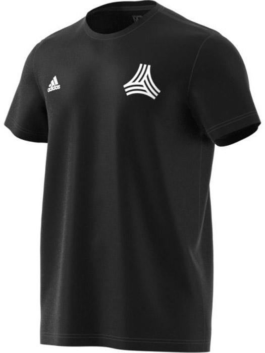 Футболка мужская Adidas Tanc Street Tee, цвет: черный. CE7170. Размер M (48/50)CE7170Комфортная мужская футболка от Adidas с короткими рукавами и круглым вырезом горловины выполнена из натурального хлопка. Модель оформлена на правой груди логотипом бренда и символом Tango на левой.