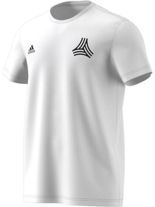 Футболка мужская Adidas Tanc Street Tee, цвет: белый. CE7171. Размер L (52/54)CE7171Комфортная мужская футболка от Adidas с короткими рукавами и круглым вырезом горловины выполнена из натурального хлопка. Модель оформлена на правой груди логотипом бренда и символом Tango на левой.