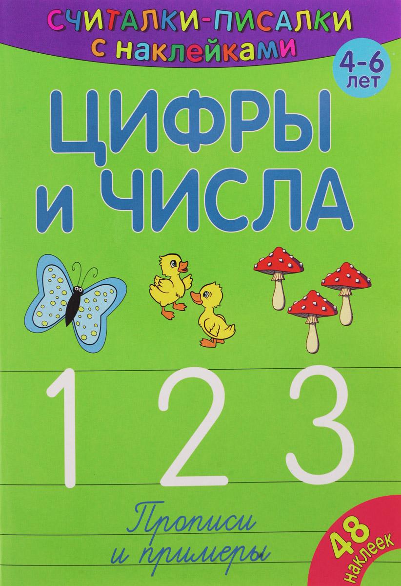 Цифры и числа. 1, 2, 3. Прописи и примеры (+ наклейки)