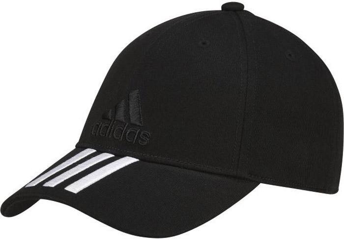 Бейсболка Adidas 6P 3S Cap Cotto, цвет: черный. S98156. Размер 54/55S98156Стильная бейсболка Adidas выполнена из хлопка и дополнена широким изогнутым козырьком.Изделие оформлено спереди вышивкой в виде названия бренда. Объем бейсболки регулируется с помощью эластичного ремешка.