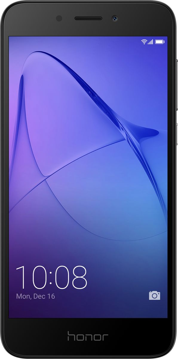 Huawei Honor 6A, Grey10230Металлический корпус Huawei Honor 6A с пескоструйной обработкой граней приятен на ощупь и удобно лежит в руке.Многофункциональный сканер отпечатков пальцев облегчает управление смартфоном. А технология энергосбережения позволяет использовать смартфон длительное время без подзарядки.Основная камера 13 Мпикс с технологией фазовой автофокусировки, скоростью фокусировки 0,5 с и 5-компонентным объективом позволяет делать превосходные фотографии с точной передачей цвета и мельчайших нюансов. Фронтальная камера 5 Мпикс передает четкое изображение при съемке селфи и при выполнении видеовызовов.Honor 6A оснащен 8-ядерным процессором Qualcomm, оперативной памятью 2 ГБ и встроенной памятью 16 ГБ с возможностью установки карт до 128 ГБ. На смартфоне установлен интерфейс EMUI 5.1 на платформе Android 7.0.Высокоскоростной сканер отпечатков пальцев смартфона Honor 6A позволяет разблокировать смартфон всего за 0,5 секунды. Также с его помощью можно снимать фото и видео, отвечать на входящие вызовы, отключать сигналы будильника, просматривать фотографии и выполнять другие операции.Батарея 3020 мАч смартфона Honor 6A поддерживает до 28 часов разговора в формате 2G, до 12 часов воспроизведения HD видео, до 10 часов работы в Интернете в 4G формате, а также до 57 часов прослушивания музыки. Батарея смартфона Honor 6A рассчитана на длительное использование, сохраняя около 80 % своей емкости даже после 800 повторных зарядок.5-дюймовый HD-экран смартфона Honor 6A передает четкое изображение. Режим защиты зрения снижает усталость глаз, автоматически регулируя яркость экрана и уменьшая УФ-излучение.Инновационный интерфейс EMUI 5.1 на базе Android Nougat дает возможность легко переключаться между стандартным рабочим экраном и экраном приложений, обеспечивая гибкую настройку смартфона согласно предпочтениям пользователя.Смартфон сертифицирован EAC и имеет русифицированный интерфейс меню и Руководство пользователя.