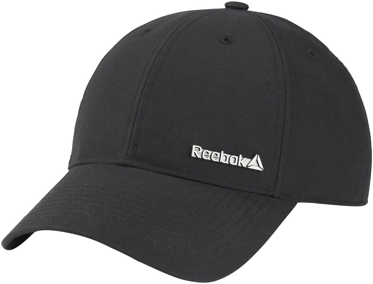 Бейсболка Reebok Act Fnd Badge Cap, цвет: черный. BQ1305. Размер 58/60BQ1305Стильная бейсболка Reebok, выполненная из высококачественного материала, идеально подойдет для прогулок, занятий спортом и отдыха. Изделие оформлено логотипом бренда. Бейсболка надежно защитит вас от солнца и ветра. Эта модель станет отличным аксессуаром и дополнит ваш повседневный образ.